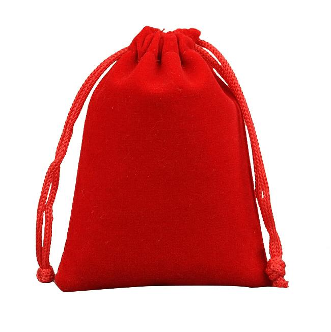 Vrecko na menštruačný kalíšok (červený)